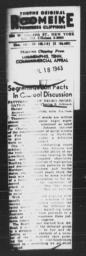 Article regarding Charles S. Johnson's PATTERNS OF NEGRO SEGREGATION, COMMERCIAL APPEAL, Memphis, Tenn., July 18, 1943