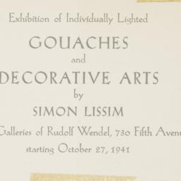 Notice of an exhibition of ...