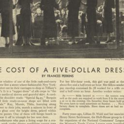 Cost of a Five-Dollar Dress