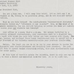 """Letter from """"a concerned st..."""