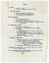Outline of Frances Perkins statement on AFL-CIO meeting