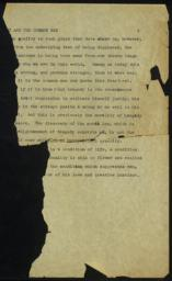 Tragedy and the Common Man, undated : typed manuscript fragment
