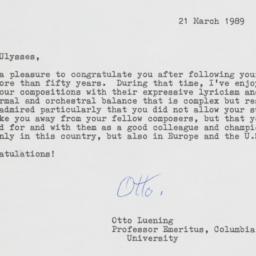 Letter of congratulations f...