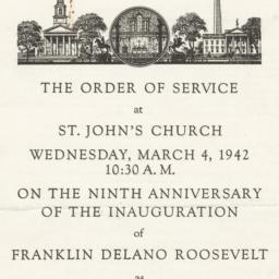 Order of Service at Saint J...