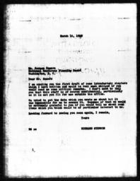 Letter from Richard Sterner to Herman Somers, March 16, 1940