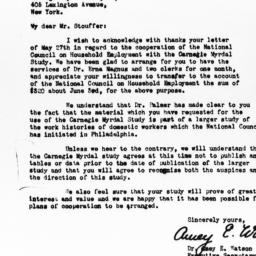 Letter from Amey E. Watson ...