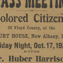 Mass Meeting of Colored Cit...
