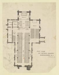 Pew plan. St. Peters Church, Morristown, N. J. J. R. Brinley, Del.
