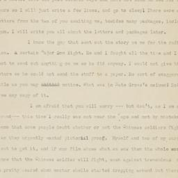 6 May 1945 letter to parents