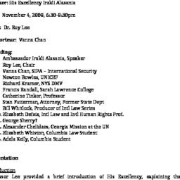 Minutes, 2008-11-04. The Pr...