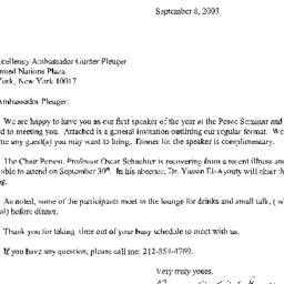 Correspondence, 2003-09-08....