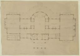 Country House for Hon. Wm. C. Whitney at Wheatley, Long Island. First Floor Plan