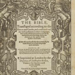The     Bible. Translated a...