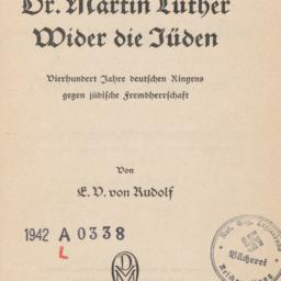 Dr. Martin Luther: Wider di...
