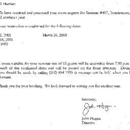 Correspondence, 2002-07-05....