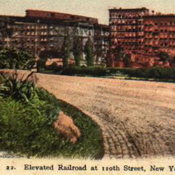 Elevated Railroad at 110th ...