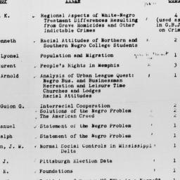 Carnegie-Myrdal Study, Inci...