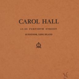 Carol Hall, 43-08 40 Street