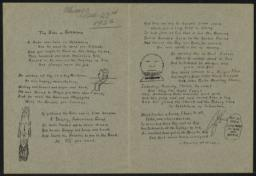 Babe of Bethlehem : poem, 23 December 1922 : broadside, Chicago
