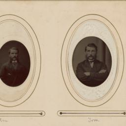 """Two Portraits in Ovals: """"Jo..."""