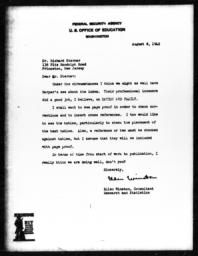 Letter from Ellen Winston to Richard Sterner, August 8, 1942