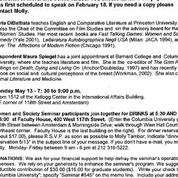 Announcements, 2002-05-13. ...