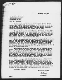 Letter from Robertson D. Ward to Richard Sterner, October 10, 1941; forwarded to Charles Dollard