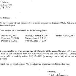 Correspondence, 2004-07-15....