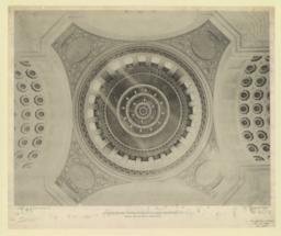 Interior of dome: Rhode Island State House, Providence, R. I. McKim, Mead & White, Architects