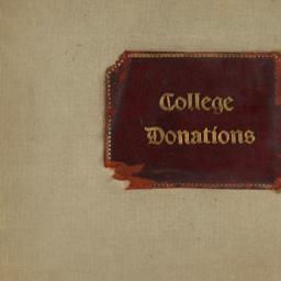 Records of College Donations