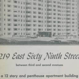 219 E. 69 Street, 219 East ...