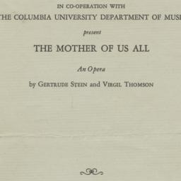 The     Mother of Us All : ...