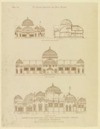 Competitive drawings for Iowa State Building, World's Columbian Exposition W. W. Boyington & Co., Chicago, Architects