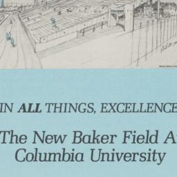 New Baker Field at Columbia...