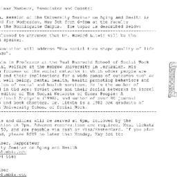 Announcements, 2004-05-05. ...