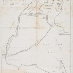 [Map of New York Harbor, Ne...