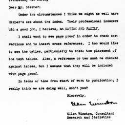Letter from Ellen Winston t...