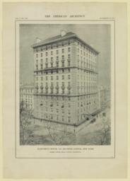 Apartment House, No. 998 Fifth Avenue, New York. Messrs. McKim, Mead & White, Architects