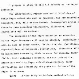 "Prospectus for ""The Negro I..."