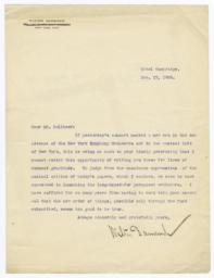 Typed Letter, Signed, To Joseph Pulitzer