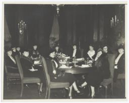 Wives of President Franklin Delano Roosevelt's Cabinet Members at Table
