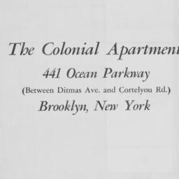 The     Colonial Apartments...