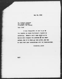 Letter from Charles Dollard to Richard Sterner, May 18, 1942