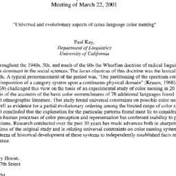 Announcements, 2001-03-22. ...