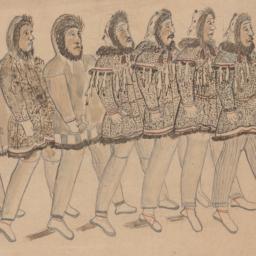Line of Eleven Men Carrying...