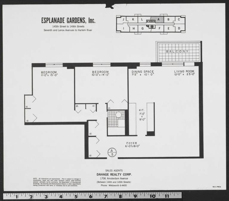 Esplanade Gardens Seventh Avenue And W 145 Street A The New York Real Estate Brochure Collection