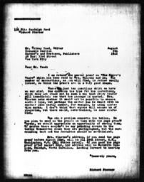 Letter from Richard Sterner to Ordway Tead, August 5, 1942