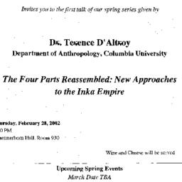 Announcements, 2001-02-28. ...