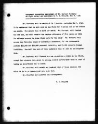 Agreement concerning employment of Herbert Northrup as field worker and assistant to Paul H. Norgren, May 9, 1940