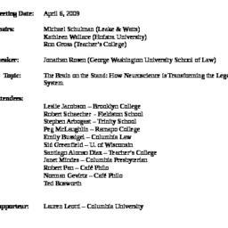 Minutes, 2009-04-06. Innova...